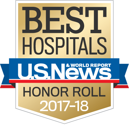 U.S. News & World Report Honor Roll 2017-18 badge